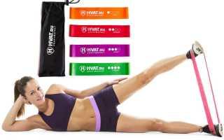 Упражнения с резиновой лентой: похудение и прокачка мышц