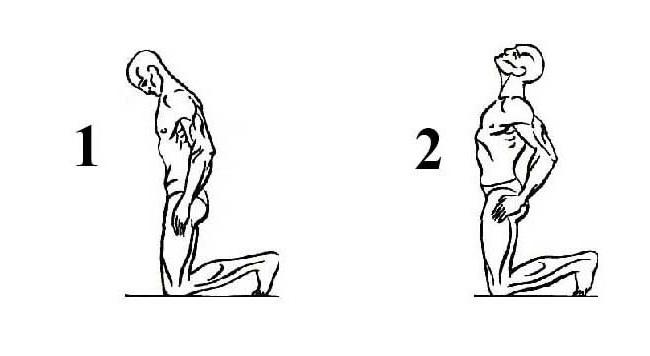 3 упражнение Тибетской гимнастики