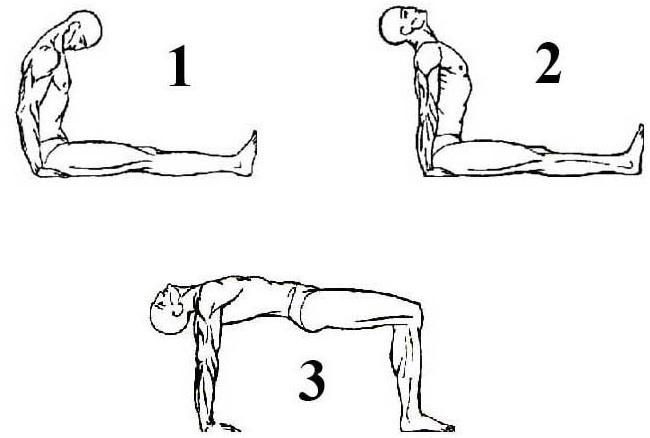 4 упражнение Тибетской гимнастики
